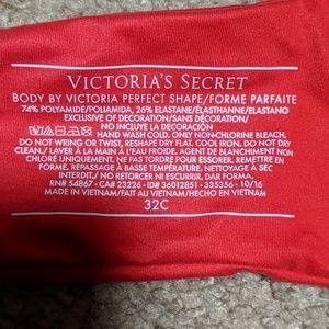 Victoria's Secret Intimates & Sleepwear - NWT Body by Victoria Red Perfect Shape Bra 32C